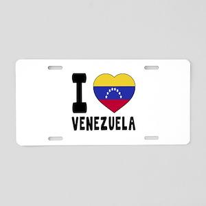 I Love Venezuela Aluminum License Plate