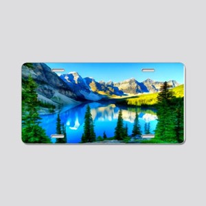 Canadian Rockies Aluminum License Plate