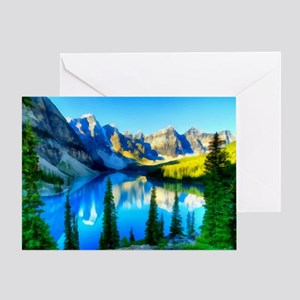 Canadian Rockies Card Greeting Cards