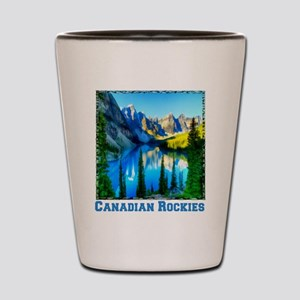 Canadian Rockies Shot Glass