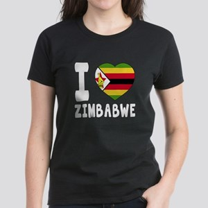I Love Zimbabwe Women's Dark T-Shirt