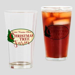 Christmas Tree Farm Drinking Glass