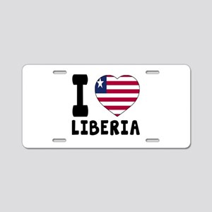 I Love Liberia Aluminum License Plate