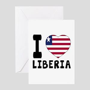 I Love Liberia Greeting Card