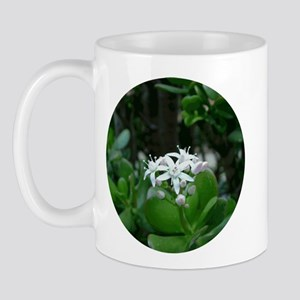 White Exotic Flower Mug