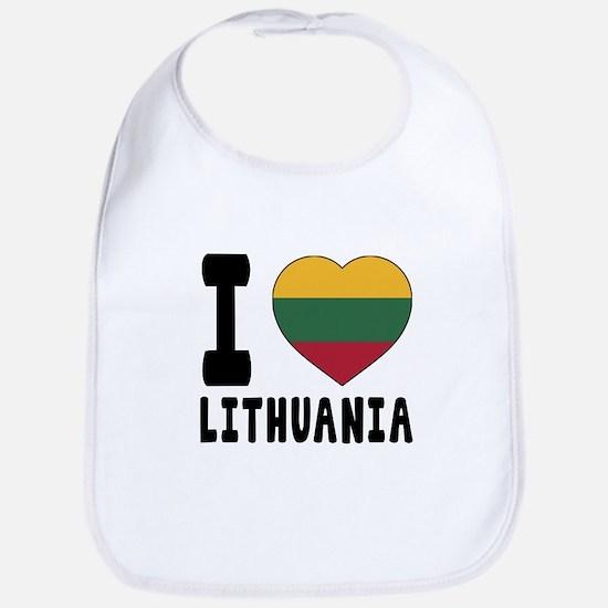 I Love Lithuania Bib
