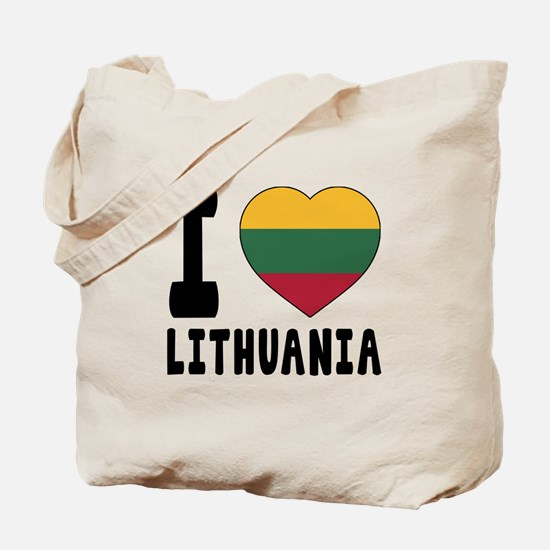 I Love Lithuania Tote Bag