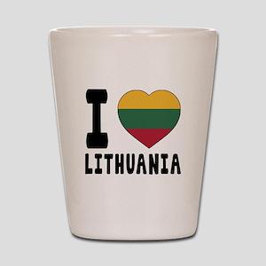 I Love Lithuania Shot Glass
