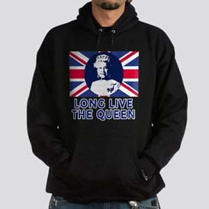 Queen Elizabeth II:  Long Live the Q Hoodie (dark)