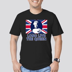 Queen Elizabeth II:  L Men's Fitted T-Shirt (dark)
