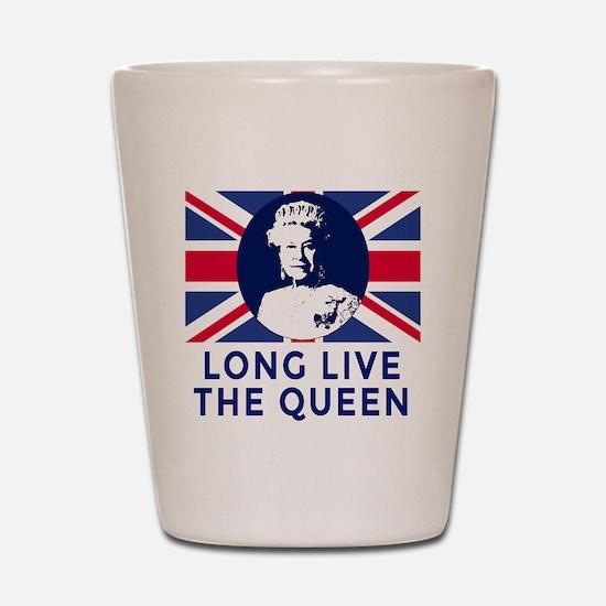 Queen Elizabeth II:  Long Live the Quee Shot Glass