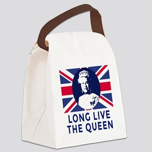 Queen Elizabeth II:  Long Live th Canvas Lunch Bag