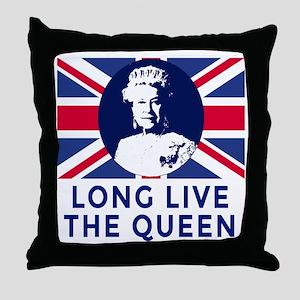 Queen Elizabeth II:  Long Live the Qu Throw Pillow