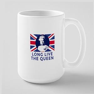 Queen Elizabeth II:  Long Live the Quee Large Mug