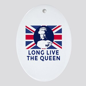 Queen Elizabeth II:  Long Live the Q Oval Ornament