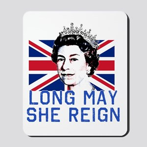 Queen Elizabeth II:  Long May She Reign Mousepad