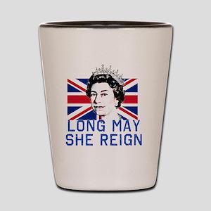 Queen Elizabeth II:  Long May She Reign Shot Glass