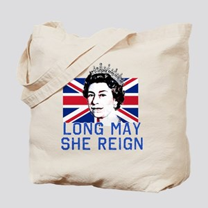 Queen Elizabeth II:  Long May She Reign Tote Bag