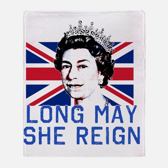 Queen Elizabeth II:  Long May She Re Throw Blanket