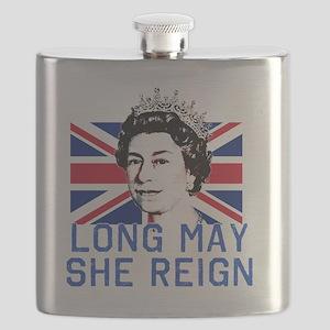 Queen Elizabeth II:  Long May She Reign Flask