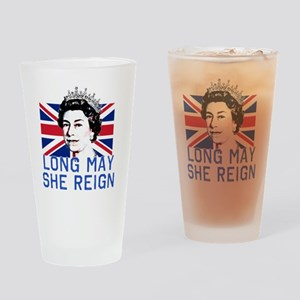 Queen Elizabeth II:  Long May She R Drinking Glass