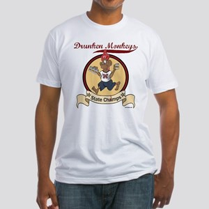 Drunken Monkey Fitted T-Shirt