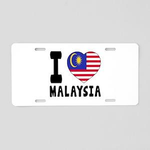 I Love Malaysia Aluminum License Plate