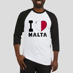 I Love Malta Baseball Jersey