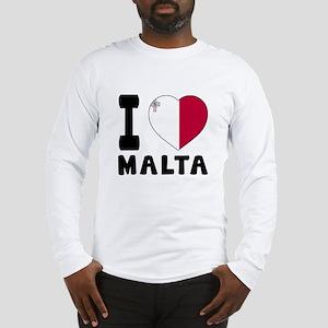 I Love Malta Long Sleeve T-Shirt