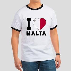 I Love Malta Ringer T