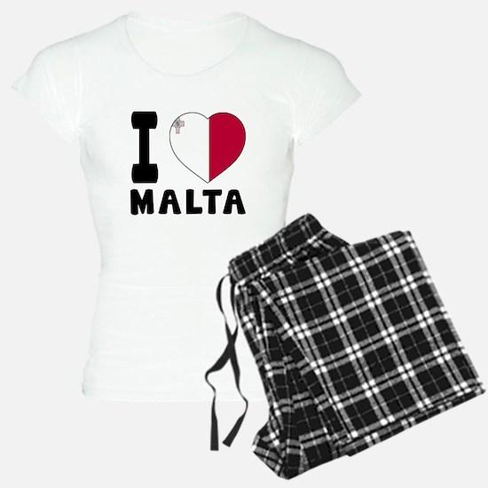 I Love Malta Pajamas