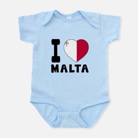 I Love Malta Infant Bodysuit