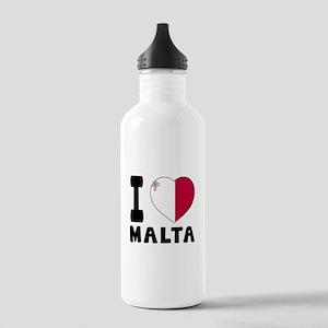 I Love Malta Stainless Water Bottle 1.0L