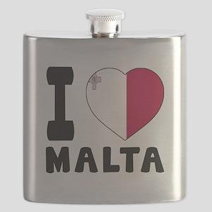 I Love Malta Flask