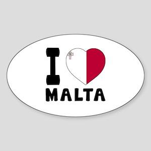I Love Malta Sticker (Oval)