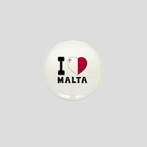 I Love Malta Mini Button