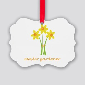 Yellow Daffodils Bouquet Master Picture Ornament