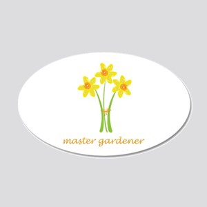 Yellow Daffodils Bouquet 20x12 Oval Wall Decal