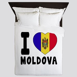 I Love Moldova Queen Duvet