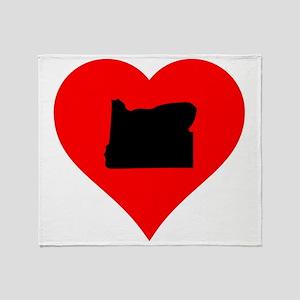 Oregon Heart Throw Blanket