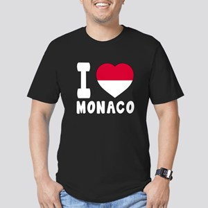 I Love Monaco Men's Fitted T-Shirt (dark)