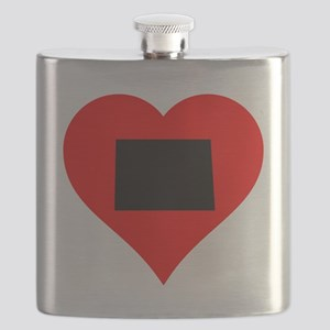 North Dakota Heart Flask