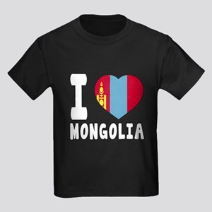 I Love Mongolia Kids Dark T-Shirt