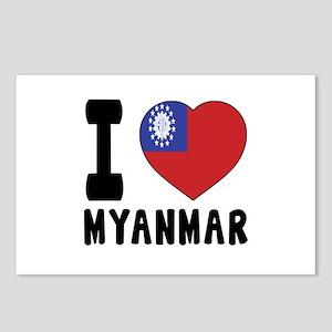 I Love MYANMAR Postcards (Package of 8)