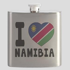 I Love Namibia Flask