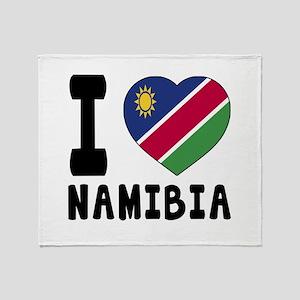 I Love Namibia Throw Blanket