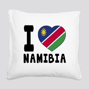 I Love Namibia Square Canvas Pillow