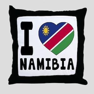 I Love Namibia Throw Pillow