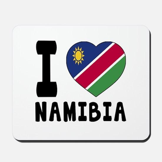I Love Namibia Mousepad