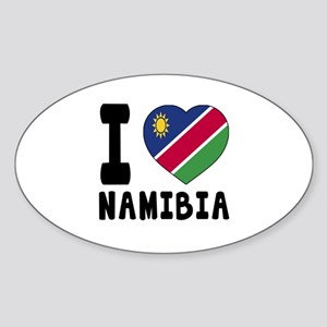 I Love Namibia Sticker (Oval)